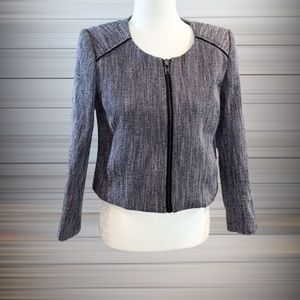 J Crew Tweed Cropped Suiting Jacket
